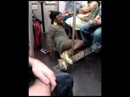 Just a crazy guy dressed up as a women exposing himself on the train