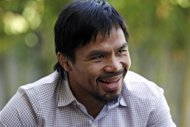 Boxer and politician Manny Pacquiao