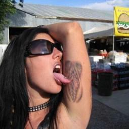 Tattooed vagina armpit