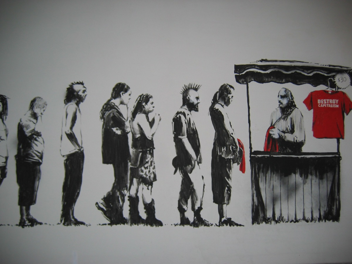 Illogical but True || Walmart Sells Counterfeit Prints Of Banksy's 'Destroy Capitalism'. What it means for free thought.
