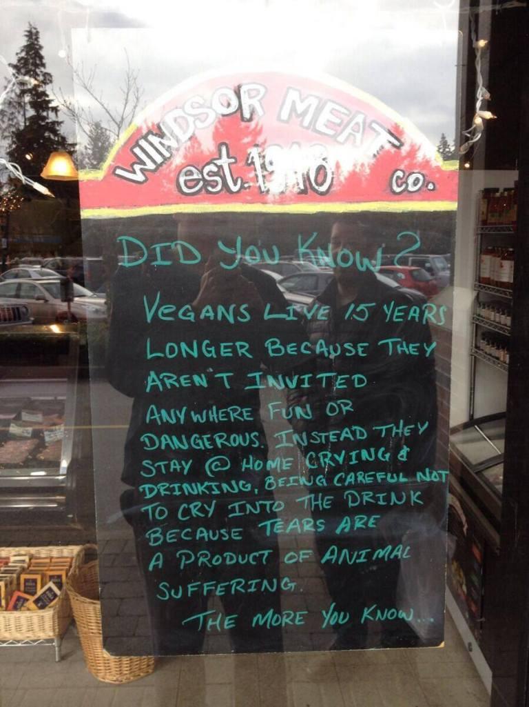 vegans leave longer