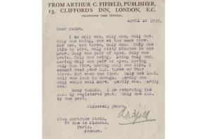 Gertrude Stein's Rejection letter