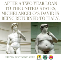 After a Two Year Loan to the US Michelangelo's David is returning to Italy