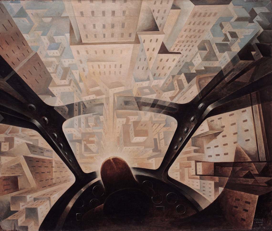 Crali-Tullio-1937-Incuneandosi-nellabitato-1938